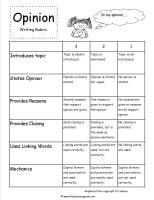CCSS.ELA-Literacy.W.2.1 Worksheets Opinion Writing Prompts, Writing Advice, Writing Ideas, Linking Words, Ccss Ela, Behavior Analyst, 2nd Grade Writing, Opinion Piece, Rubrics