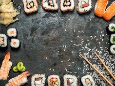 Sushi rolls, maki, nigiri by LiliGraphie on @creativemarket