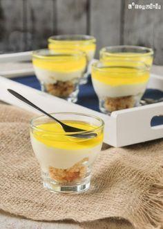 Vasitos de crema de queso al limón | L'Exquisit