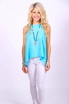 Stockholm blue jay tank - The Stockholm tank is the perfect addition to your wardrobe! This shade of blue is absolutely GORGE and looks great with white skinnie