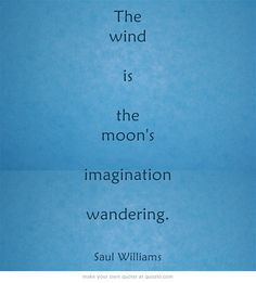 The moon's imagination ...-Saul Williams #quotes
