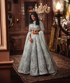 55 white bridal outfits – bestlooksYou can find indian bridal and more on our white bridal outfits – bestlooks Dress Indian Style, Indian Fashion Dresses, Indian Gowns, Indian Designer Outfits, Indian Wear, Fashion Outfits, Trendy Outfits, Style Fashion, Indian Lengha