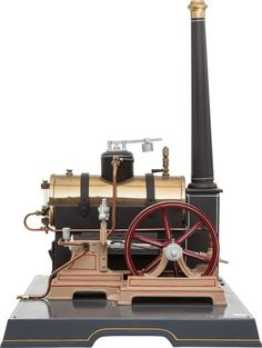 , MARKLIN LIVE STEAM MODEL POWER PLANT TOY. 20-1/2 x 13-1/2 x 15inches (52.1 x 34.3 x 38.1 cm). Finely engineered and present...