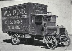 Pink's Removal Co, Kettering, later became Pink & Jones England Ireland, Moving To California, British Rail, Mystery Of History, Old Trucks, Old Cars, Motor Car, Antique Cars, Transportation