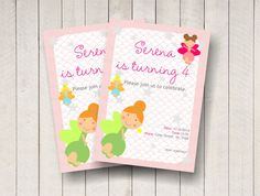 Fairy party invitation / personalized birthday by BSNPartyArt