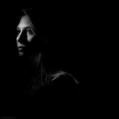 """Black and white portrait.""""20º Grid"""" by Zack Arias, via 500px."""