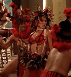 "Raiders of the Lost Tumblr — Tia Carrere in Relic Hunter (1999), ""Buddha's... Tia Carrere, Relic Hunter, Orange Bikini, Raiders, My Girl, Movie Tv, Tumblr, Photoshoot, Fantasy"