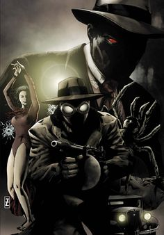 #Spiderman #Noir #Fan #Art. (Spider-Man Noir: Eyes without a face. Cover) By…