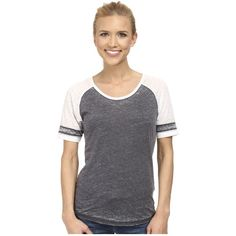 Prana Cleo Tee Women's Short Sleeve Pullover ($50) ❤ liked on Polyvore featuring tops, t-shirts, short sleeve tee, short sleeve tops, striped top, striped t shirt y color block tee