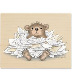 """""""Gruffies - Bear-ied in Paperwo"""" from House-Mouse Designs® Cat Wash, House Mouse Stamps, Mouse Pictures, Mouse Color, Bear Images, Pet Mat, Large Animals, Penny Black, Digital Stamps"""