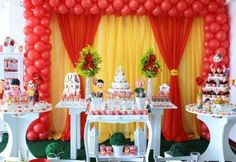 Festa da Turma da Monica 4 Yellow Birthday, Happy Birthday, Birthday Cake, Birthday Parties, Birthday Ideas, Candy Table, Minnie, Childrens Party, Alice In Wonderland