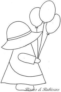 194 | Flickr - Photo Sharing! Applique Templates, Applique Patterns, Applique Quilts, Applique Designs, Embroidery Applique, Quilting Designs, Machine Embroidery, Doily Patterns, Sunbonnet Sue