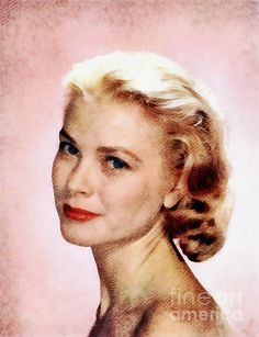Painting - Grace Kelly, Vintage Actress by Esoterica Art Agency , Grace Kelly, Icon Design, Grace Art, Actresses, Wall Art, Celebrities, Wwii, Cute, Artwork