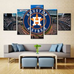 Large Framed Houston Astros Stadium Canvas Print