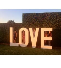 Wedding and events love letters