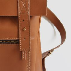 PROJECT 226 - ESTRELA BACKPACK - TAN LEATHER | THE PORTCORNER. Made in Portugal, Shop from our store www.portcorner.com.