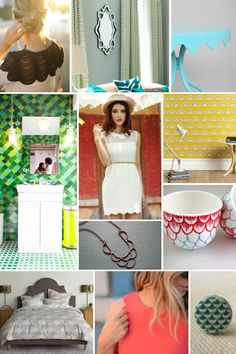 Mood Board Monday: Sweet, Scalloped Edges (http://blog.hgtv.com/design/2013/08/05/mood-board-monday-sweet-scalloped-edges/?soc=pinterest)