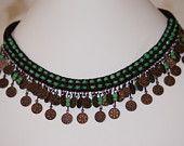 Bella Blue Spool Knit Necklace - PaHaRa on Etsy