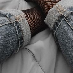 Trends come & go . . .Fishnet Socks Tights with Mom Jeans