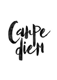Carpe Diem Latin Phrase Motivational Print by MotivationalThoughts