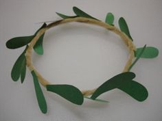 Kotinos- Greek olive branch crown Olympics craft for kids.