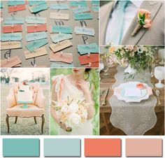 Add some touches of peach and coral BMHbride Brandy Waterfall