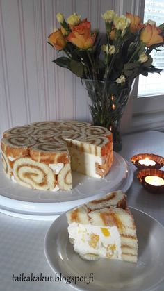 Finnish Recipes, Sweet Bakery, Cream Cake, Fondant Cakes, Desert Recipes, Food To Make, Cake Recipes, Sweet Tooth, Food And Drink
