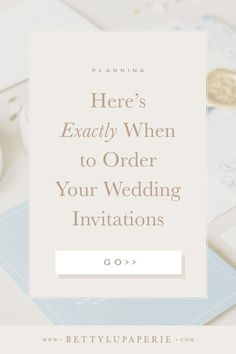 For the organized bride, check out my wedding planning timeline on when to order wedding invitations. When it comes to planning, getting your wedding stationery in order is one of the first tiny but mighty tasks for the big day. Wedding Invitation Wording Examples, Wedding Wording, Wedding Invitation Etiquette, Wedding Planning Timeline, Wedding Etiquette, Classic Wedding Invitations, Wedding Stationery, Wedding Advice, Weddings