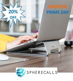 Get your Laptop Stand by Spherecalls this Prime Day and Save 20% https://www.amazon.com/Laptop-Stand-Spherecalls-Aluminum-Silicone/dp/B010H0XEFK