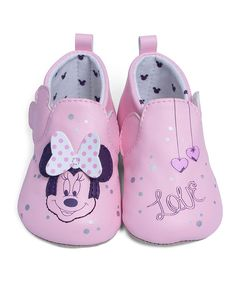 Look at this Pink Minnie Mouse 'Love' Bootie on #zulily today!