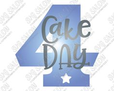 Four Year Old Birthday Cake Day Star Number Cut File in SVG, EPS, DXF, JPEG, and PNG