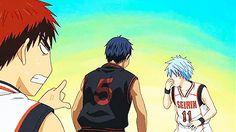 Discovered by Find images and videos about funny, anime and kuroko no basket on We Heart It - the app to get lost in what you love. Kuroko No Basket, Aomine Kuroko, Kagami Taiga, Kise Ryouta, Haikyuu, Kurokos Basketball, Basketball Legends, Manga Anime, Anime Art