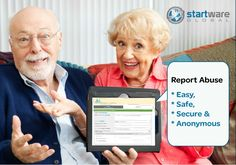 Easy online reporting tool for senior people to report Abuse or unethical behaviour, safe, secure and anonymous