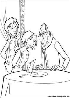 Ratatouille Coloring Pages - Educational Fun Kids Coloring Pages and Preschool Skills Worksheets Cool Coloring Pages, Disney Coloring Pages, Mandala Coloring Pages, Printable Coloring Pages, Adult Coloring Pages, Coloring Pages For Kids, Coloring Books, Cartoon Characters Sketch, Character Sketches