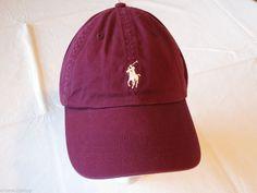 Men's Polo Ralph Lauren hat cap golf casual maroon 6510255 adjustable classic