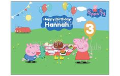 Peppa Pig Edible Image Cake topper Birthday Decoration sugar frosting sheet party => Quickly view this special product, click the image : baking decorations