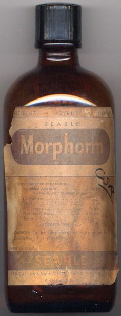 Morphine + Chloroform, prescribed for coughing.