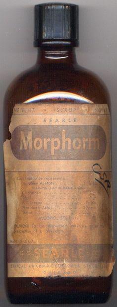 Morfina + Cloroformo (Morphorm) para la tos (1940's)