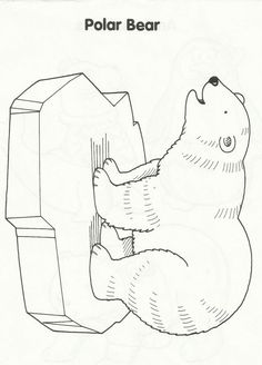 Free polar bear coloring page