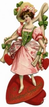 Bessie's Valentine Cakes- A victorian recipe poem 1888.  (Old Fashioned Holidays blog)