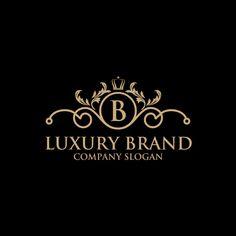luxury crest logo hotel boutique restaurant vector - Buy this stock photo and explore similar images at Adobe Stock Luxury Logo Design, Web Design, Brand Design, Typography Logo, Logo Branding, Luxury Branding, Ideas Para Logos, Honey Packaging, Hotel Logo