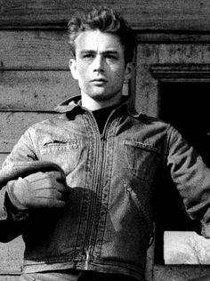 James Dean photographed by Dennis Stock, Fairmount, Indiana, 1955.