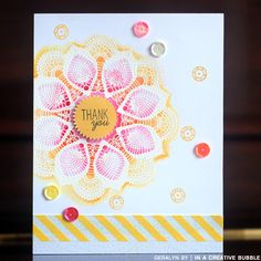 Geralyn Sy - emboss resist with watercolors with Mama Elephant stamps.  LOVE!