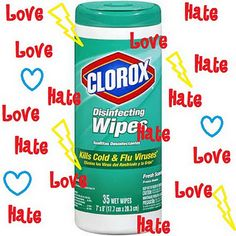 "Homemade Clorox Wipes - In a 2-cup measuring cup mix up approximately 1 1/2 cups HOT water, about 2 Tablespoons castile soap and about a 1/4 cup of white vinegar. Precise measuring isn't necessary.  (The original ""recipe"" called for Tea Tree Oil. Think i I might try eucalyptus oil too.  After a little stir I poured it all over my batch of 16 cotton cloths made from an old cut up t-shirt"