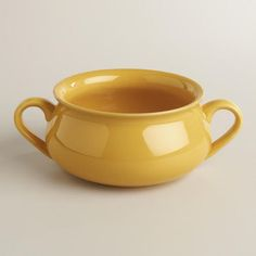 One of my favorite discoveries at WorldMarket.com: Sunflower Double-Handled Soup Crocks, Set of 4