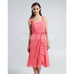 Femme robe pastèque rouge avec fleurs au ceinture en mousseline Modèle: PHBG1241  Disponibilité : En stock €62,65