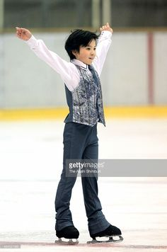 Shoma Uno competes in the Aichi Figure Skating Competition at Nippon Gaish Areana on December 5, 2010 in Nagoya, Aichi, Japan.