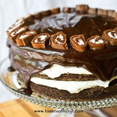 Ho Ho Layer Cake - Tastes of Lizzy T's Sounds good :) I will one day try something similar with a chocolat sponge cake
