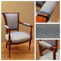 faste d 39 une berg re la reine et d 39 un fauteuil louis xvi en braqueni tissu maison pierre. Black Bedroom Furniture Sets. Home Design Ideas
