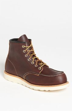 Free shipping and returns on Red Wing Moc Toe Boot (Online Only) at Nordstrom.com. A hefty Traction Tred sole forms the foundation of a rugged, classic boot crafted from handsomely aged leather and constructed using a time-tested Goodyear welt. - Size 10.5